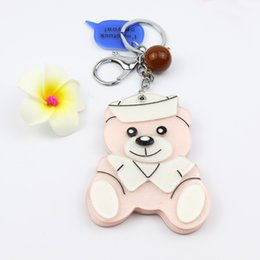 $enCountryForm.capitalKeyWord NZ - sitting bear pink cosmetic mirror keycharms acrylic keychain hand made gifts bag accessories promotion items hot saling