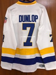 Slap Shot Chiefs Jersey NZ - Cheap custom Dunlop Charlestown Chiefs Jersey #7 Slap Shot Movie Hockey White New Stitched Customize any number name MEN WOMEN YOUTH XS-6XL