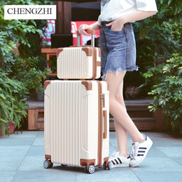 "$enCountryForm.capitalKeyWord Australia - CHENGZHI 20""22""24""26"" Inch ABS Rolling Luggage sets Spinner Brand Suitcase Wheels Women Carry Ons Travel Bags"