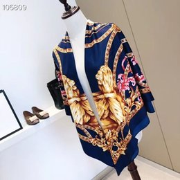 $enCountryForm.capitalKeyWord Australia - wholesale Brand counter designer scarf women's shawl 130*130cm Luxury Fashion Brand Printed lion silk Scarf