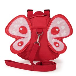 Wholesale Girls Children Anti Lost Backpack Large Capacity Nylon With Pulling Rope Striking Butterfly