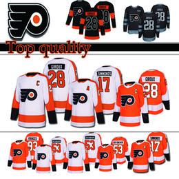 d80edcc3c 28 Claude Giroux Philadelphia Flyers Jersey 53 Shayne Gostisbehere 17 Wayne  Simmonds 93 Jakub Voracek 88 Eric Lindros Jerseys top