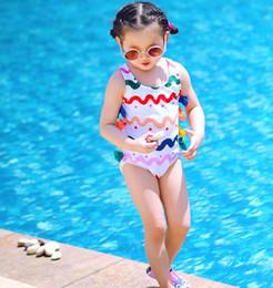 $enCountryForm.capitalKeyWord Australia - Kids One Piece Swimwear Baby Wave Sleeveless Swimsuit Bikini Toddler Bowknot Swimming Suit Lovely Beach Swimming Wear GGA2212