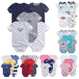 $enCountryForm.capitalKeyWord Australia - 5 Pcs lot Uniesx Newborn Baby Rompers 100%cotton Baby Clothing Set Roupas De Bebe Baby Boy Girl Clothes Y19061303