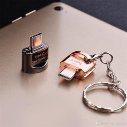 $enCountryForm.capitalKeyWord Australia - Convenient to carry Key Chain USB 3.1 Type-C to TF Card Memory Card Reader Adapter for Mobile Phone Computer