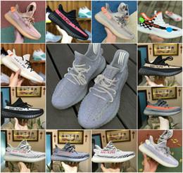2019 New Static 3M Booster Réfléchissant Pas Cher Belgua 2.0 Semi Frozen Jaune Chaussures De Haute Qualité Kanye West True Form Hommes Femmes Chaussures de formateur en Solde