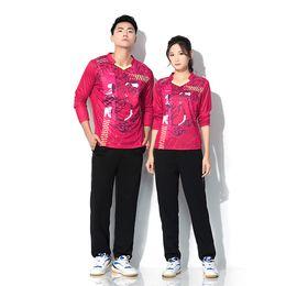 $enCountryForm.capitalKeyWord Australia - Adsmoney Men's and women's long sleeve v-neck tennis set, personalized printed badminton wear long sleeve T shirt + trousers