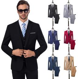 Boutique Dresses Suits Australia - 2 Pcs Mens Fashion Plaid Boutique Formal Business Suit Jackets Men Groom Wedding Dress Suit Coats Mens Casual Suit Blazers Y190420