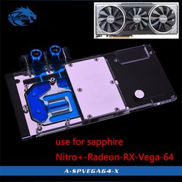 $enCountryForm.capitalKeyWord Australia - Bykski Water Block use for Sapphire Nitro+ Radeon RX Vega 64 8GB HBM2 (11275-03-40G) Full Cover GPU Copper Block Radiator RGB