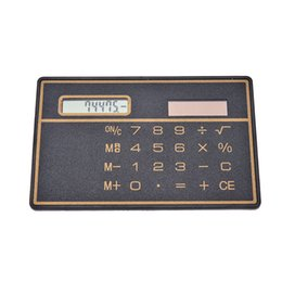 mini slim card calculator solar UK - 1PC Special Hot And Convinient High Quality Mini 8 Digits Slim Credit Card Solar Power Pocket Calculator Random Color