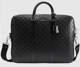 $enCountryForm.capitalKeyWord UK - 2019 Signature Leather Briefcase 428041 Men Messenger Bags Shoulder Belt Bag Totes Portfolio Briefcases Duffle Luggage
