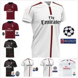 Chinese  10 free DHL! ac Milan soccer jersey 2019 2020 AC Milan Piatek BACCA PAQUETA BONUCCI home BERTOLACCI MENEZ CALHANOGLU football shirts soccer manufacturers