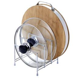 $enCountryForm.capitalKeyWord Australia - Multi-layer Kitchen Shelf Pot Lid Rack Organizer Stand For Lids Pan & Cutting Board Holder Storage Stainless Steel Dish