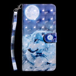 cat wallet case Canada - For Samsung Galaxy S20 Plus S20 Ultra A01 A21 A81 A91 A70E M30S 3D Leather Wallet Case Flower Dog Lace Wolf Tiger Cat Owl Fashion Flip Cover