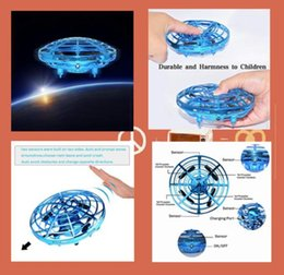 Flying Ufo Toy Helicopter NZ - UFO Flying Ball Toys, Gravity Defying Hand-Controlled Suspension Helicopter Toy, Infrared Induction Interactive Drone Indoor Flyer Toys with