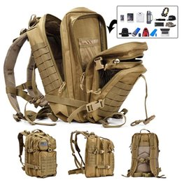rucksack backpack for camping Canada - 3D 900D 50L Capacity Men Tactical Large Backpack Waterproof Outdoor Sport Hiking Camping Hunting fishing Rucksack Bags For Men