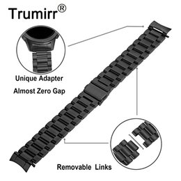 Hook Removers Australia - Zero Gap Curved Stainless Steel Watchband + Link Remover For Samsung Galaxy Watch 42mm Sm-r810 sm-r815 Band Wrist Strap Bracelet T190620