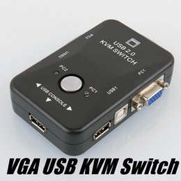 Kvm Usb Vga Mouse Keyboard Australia - Ports USB 2.0 VGA SVGA KVM Switch Box for Sharing Monitor Keyboard Mouse Newest Drop Shipping