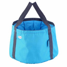 Jewelry & Watches Outdoor Travel Folding Buckets Foldable Camping Washbasin Sink Portable Washing Bag Water Bag Wholesale Gear Accessories Refreshment