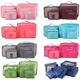 organizing bags Australia - 6 Pieces\set Oxford packing cube Waterproof Travel Bag One set Large Capacity Of Clothing Sorting Organize