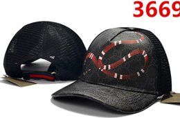 Wholesale Designer Top Baseball Cap Adjustable Snapback Summer Cool Baseball Caps Brand New snake bee embroidery Baseball Hat Steelers Cap Ovo Dad Hat