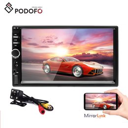 japanese remote Australia - Podofo 7018B 2 Din Car Radio HD Autoradio LCD Touch Screen Car DVD Stereo MP5 Player + 4 LED Rear View Camera With Remote Control