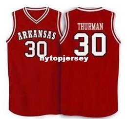Red Basketball Jerseys Australia - Cheap #30 Scotty Thurman Arkansas Razorbacks Basketball Jersey White Red Embroidery Stitched Personalized Custom Jerseys Retro NCAA