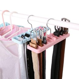 $enCountryForm.capitalKeyWord Australia - Rotating Ties Hanger Holder Closet Organization Space Saver Multifuction Storage Rack Tie Belt Organizer Wardrobe Finishing