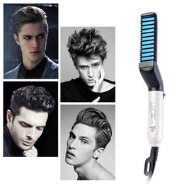 Men Quick Beard Straightener Styler Comb Multifunctional Hair Curling Curler Show Cap Tool Electric Hair Styler for Men Hair Styling Brush from nail magic wholesale manufacturers