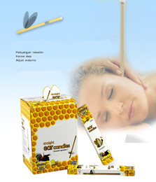 Candle Boxes Wholesale Australia - Ears candle super quality Authentic Natural Beewax happy ear care producta box of 1 pair