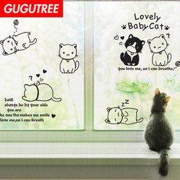 cartoon wallpaper decal Australia - Decorate Home cats letter cartoon art wall sticker decoration Decals mural painting Removable Decor Wallpaper G-2677