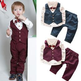 $enCountryForm.capitalKeyWord NZ - Children clothing sets Spring toddler boys clothes Coat+T Shirt+Pants boutique kids dresses for boys outfits wedding formal suit