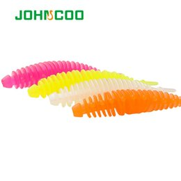 Grub jiG online shopping - Fishing Lures JOHNCOO Trout TPR Soft Bait Artificial Wobblers mm g Soft Worm Tail Grub Minnow Swimbait Ocean Rock Fishing Lure