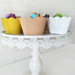 home birthday supplies Australia - 36pcs Glitter Cupcake Wrappers Rose Gold Silver Cup Cake Liners Paper Party Decor Birthday Wedding Home Dessert Table Setting