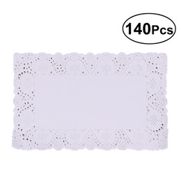 rectangle cake decoration Australia - able Decoration Accessories Mats Pads 140Pcs Pack Paper Doilies White Oil-absorbing Rectangle Disposable Packaging Paper Pad Cake Box Lin...