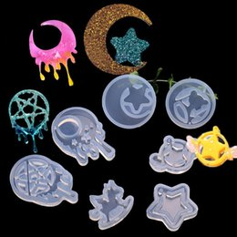 Resin epoxy ciRcle online shopping - 7Pc Handmade Crying Moon Star Toy Horse Resin Pendant Magic Circle Epoxy Resin Mould Jewelry Making Tools Art Craft