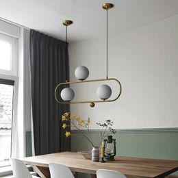 $enCountryForm.capitalKeyWord Australia - Nordic Magic Bean Bedroom Living Room Glass Ball LED Chandelier Lights Post Modern Restaurant Bar Kitchen Decor LED Hanging Lamp