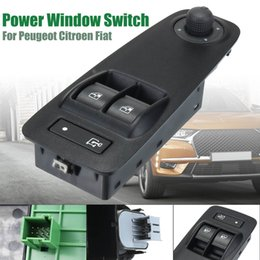Power Windows Switches Australia - New 735487423 735487419 6490X9 Car Power Window Switch Black For Citroen Peugeot Fiat Vauxhall Relay Boxer Doblo Ducato Combo MK3