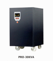 Wholesale PRO-30KVA colorful display AC automatic voltage regulator stabilizer servo type split phase in stock factory direct sale support customize