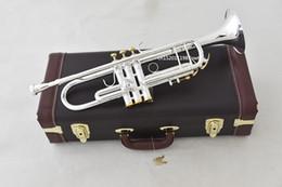 $enCountryForm.capitalKeyWord Australia - Trumpet NEW Bach Original Silver-plated body gold key LT190S-85 B flat professional trumpet bell Top musical instruments Brass