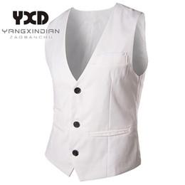 $enCountryForm.capitalKeyWord NZ - Nice New Man Dress Vests Slim Fit Mens Suit Vest Male Waistcoat Gilet Homme Casual Sleeveless Formal Business Jacket For Men 2xl