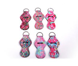 $enCountryForm.capitalKeyWord Canada - 65Styles Lily Lipstick Holder Keychain Cover Neoprene Chapstick Holder Lip Cover Colorful Lip Balm Protective Cases Cover Gifts DHL A61701
