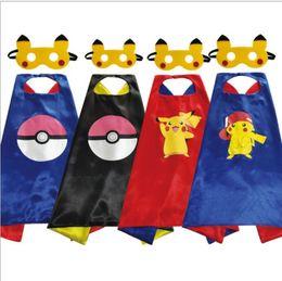 $enCountryForm.capitalKeyWord Australia - Halloween new double-layer children superhero cloak cloak high-quality clothing mask two-piece suit 70*70cm child gift cospaly magic woman d