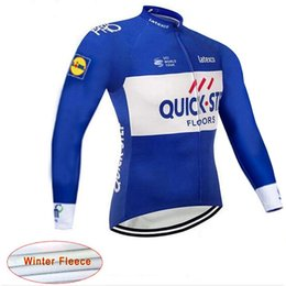 Thermal cloThing black online shopping - 2019 Winter thermal fleece Quick step pro cycling jersey sport wear ropa ciclismo invierno MTB Bicycle clothes specialize bike jerseys A21