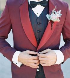 $enCountryForm.capitalKeyWord Australia - Wedding Suits For Men Suits Best Man 2 Piece Skinny Blazer Groom Prom Tailored Tuxedo Terno Masculino Jacket+Pant Custom DY986