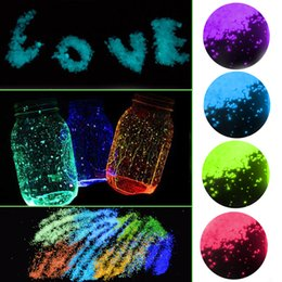 $enCountryForm.capitalKeyWord Australia - Gravel Fish Tank Party Decoration Noctilucent Sand Festival Supplies 1Bag Aquarium Fluorescent Particles DIY Luminous Glow