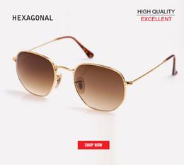 3c8bbe87a0 Venta al por mayor Clásico Retro gafas reflectantes Hombre Hexágono  Diseñador de Marca UV400 gafas de sol mujeres 3548 mercurio rosa espejo  gradiente gafas ...