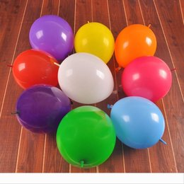 birthday party room decorations NZ - Colorful 12 Inches Balloon Thicken Pin Tail Round Airballoon For Home Room Birthday Wedding Party Decorations Air Balloons Red Blue 14cd B
