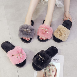 $enCountryForm.capitalKeyWord Australia - MoneRffi Home Slippers Woman Soft Plush Shoes Coral Velvet Warm Slipper For Women Winter Indoor Cotton Slippers 2019 Fashion