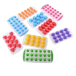 Block Maker Australia - Creative 18 Grids Fruit Shape Ice Block Maker 9 Designs Ice Cube Tray Kitchen Supplies Silicone Ice Tray Maker 50 Pieces DHL